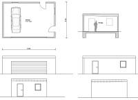 Grunsriss & Ansicht der Garage