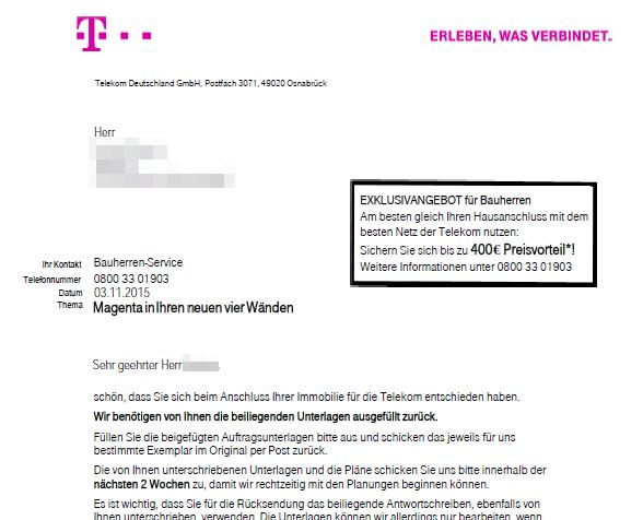 Telekom Hausanschluss