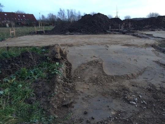 Vorbereitung Bodenplatte