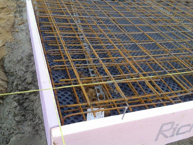 Bewehrung für Bodenplatte