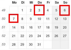 Praktikus - Mahnung - Kalender