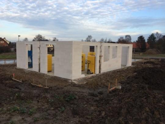 Rohbau am 19.12.2015 - Prima Haus GmbH