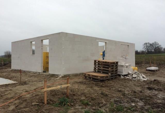 Rohbau am 22.12.2015 - Prima Haus GmbH