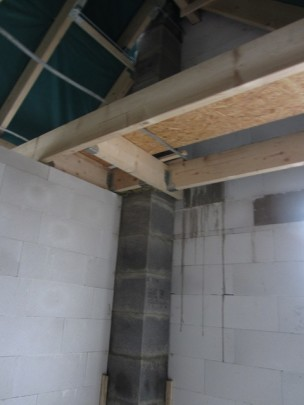Schornstein im Dachgeschoss