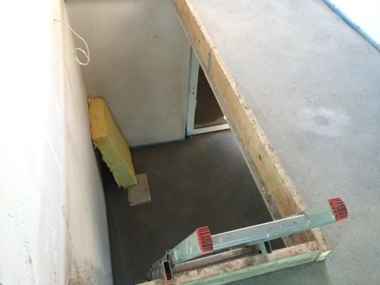 Estrich im Treppenbereich